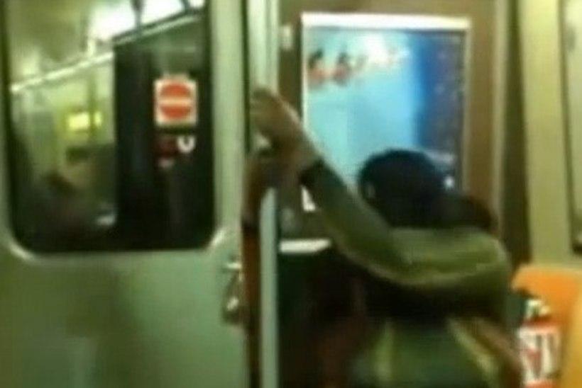 PÖÖRASELT JULGE VÕI PIINLIK: poolpaljas ja väga ülekaaluline naine tegi metroos postitantsu