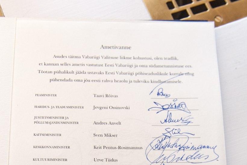 Allkirjaanalüüs: mis inimesed on uued ministrid?
