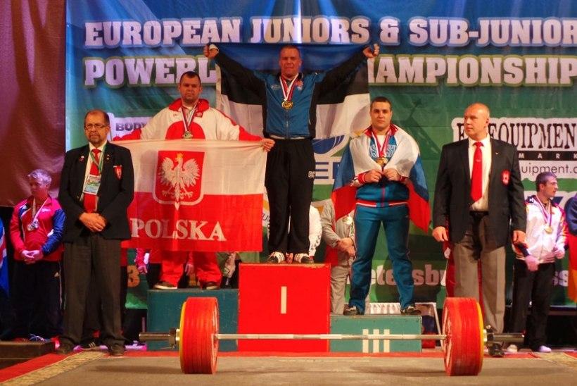 Eesti noormees püstitas jõutõstmise juunioride Euroopa rekordi