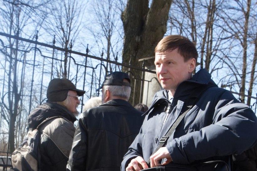 GALERII: Toompeal protestiti Eesti-Vene piirilepingute vastu