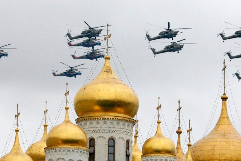 Vene armee helikopterid Pihkvas alustasid õppusi
