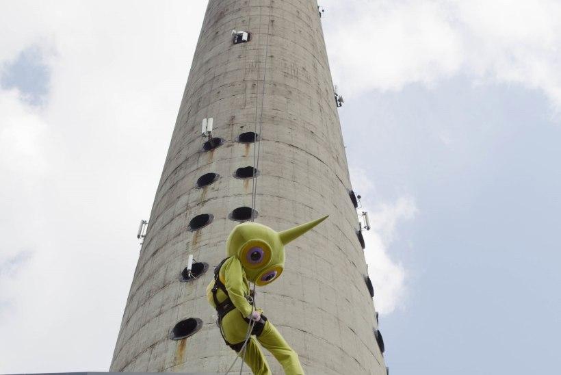 GALERII: Tallinna Teletorn esitles oma uut atraktsiooni - köiellaskumist