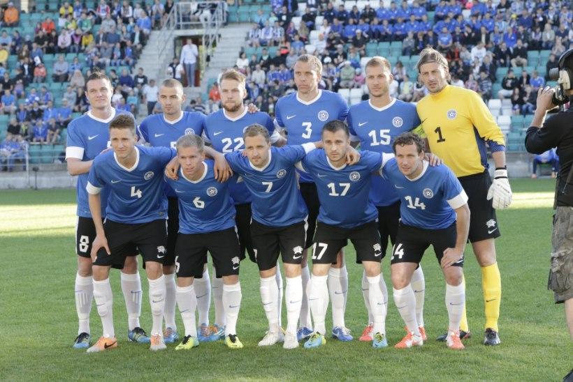 FOTOD: Eesti jalgpallikoondis ei suutnud Operi lahkumismängus võitu võtta