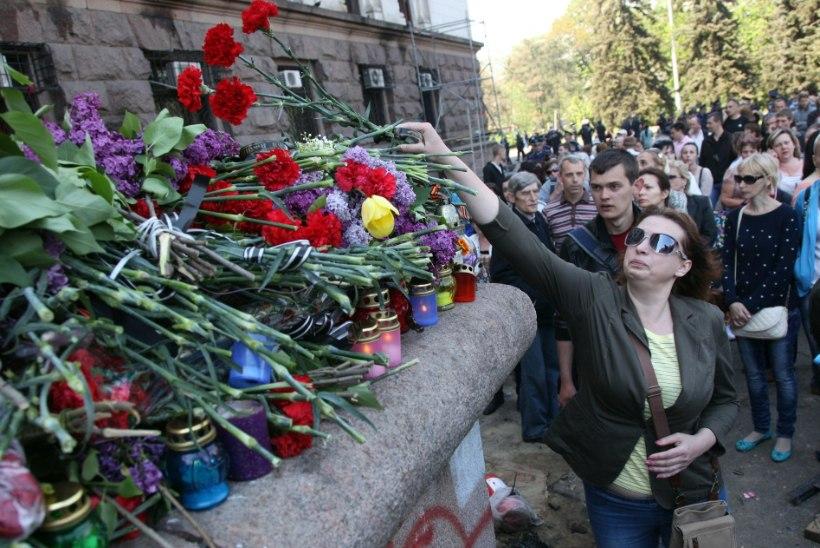 Ukrainas kuulutati välja lein ja peeti kinni 160 Odessa rahutustes osalenud inimest