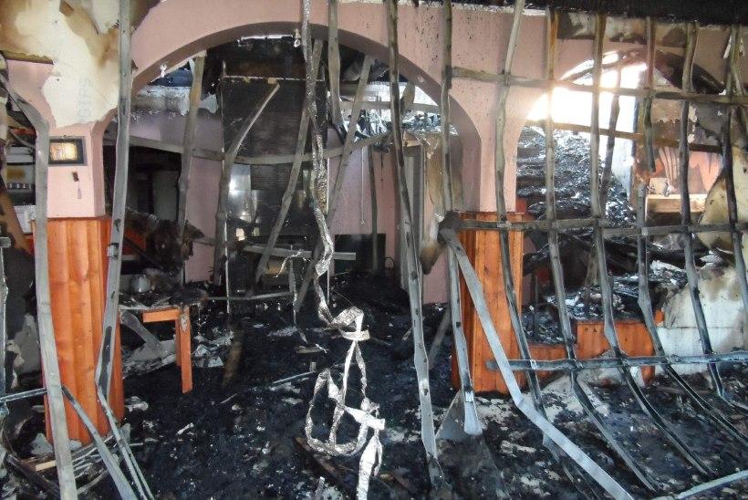 Riigikogulane lammutas põlenud šašlõkibaari