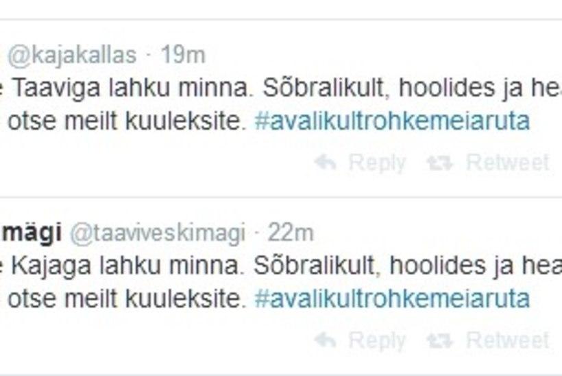 Kaja Kallas ja Taavi Veskimägi läksid lahku