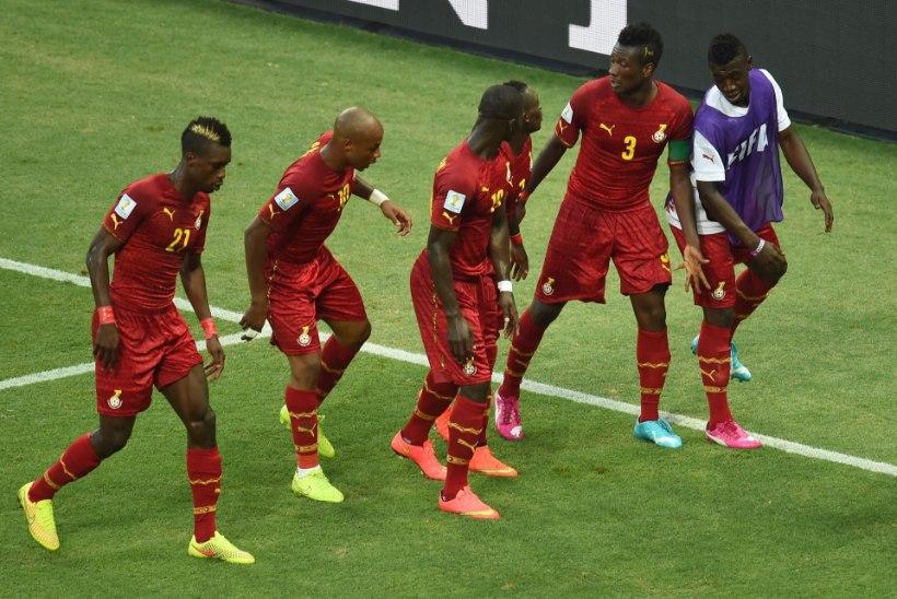 GALERII: Saksamaa ja Ghana haarav viik ja aafriklaste vahva väravatants