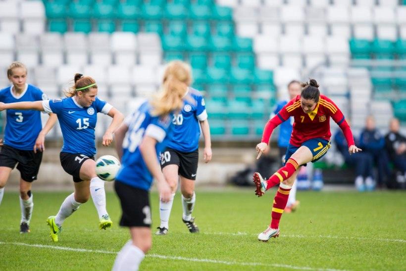 Naiste jalgpallikoondis näitas Lätile ja Leedule koha kätte