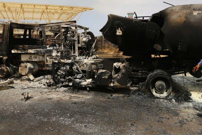 Liibüa lennuvälja ründamise käigus sai kahjustada enamik lennukeist