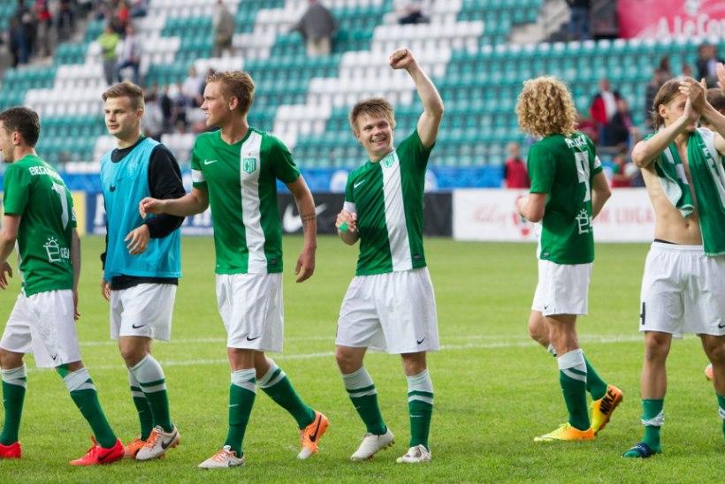 FC Flora virutas Narva Transi võrku kuus vastuseta palli