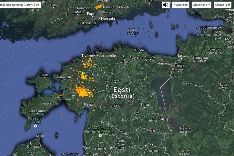 VIDEO: vihm ja äike on jõudnud Eestisse!