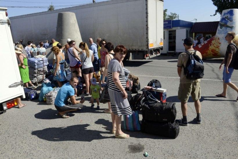 Ukraina põgenikekolonni tabasid raketid ja miinid