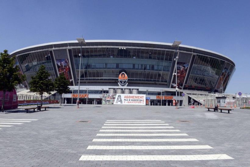 Donetski Šahtari uhkel staadionil kärgatasid plahvatused