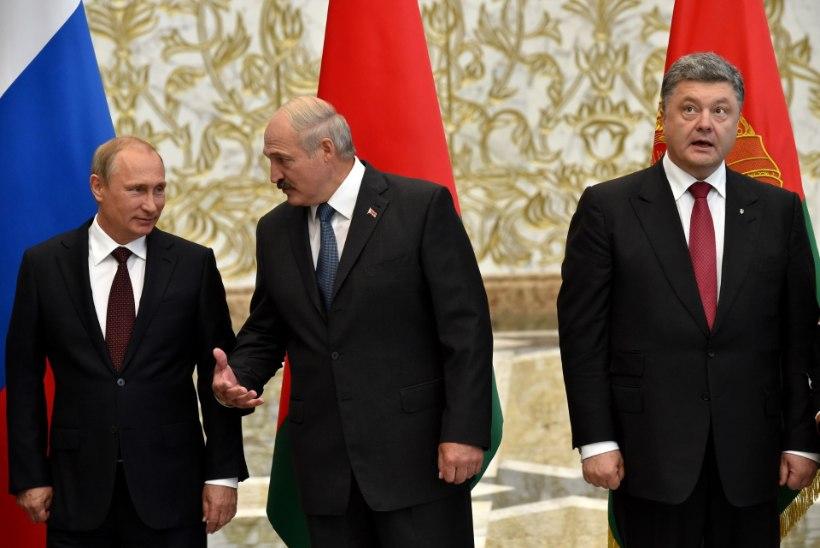 FOTOD: Porošenko ja Putin alustasid Minskis läbirääkimisi