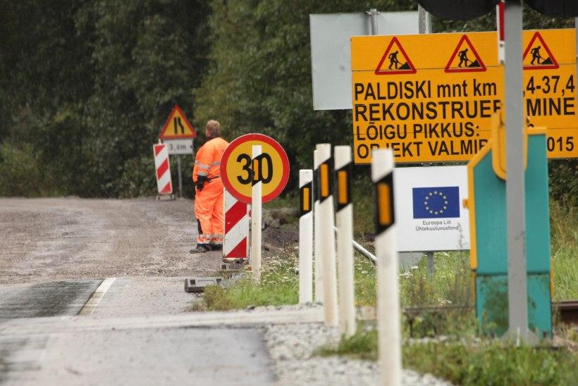 Remont muutis Tallinna–Paldiski maantee läbimatuks porimülkaks
