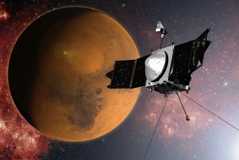 MAVEN jõudis Marsi orbiidile, et uurida, miks kadus planeedilt soojus ja vesi