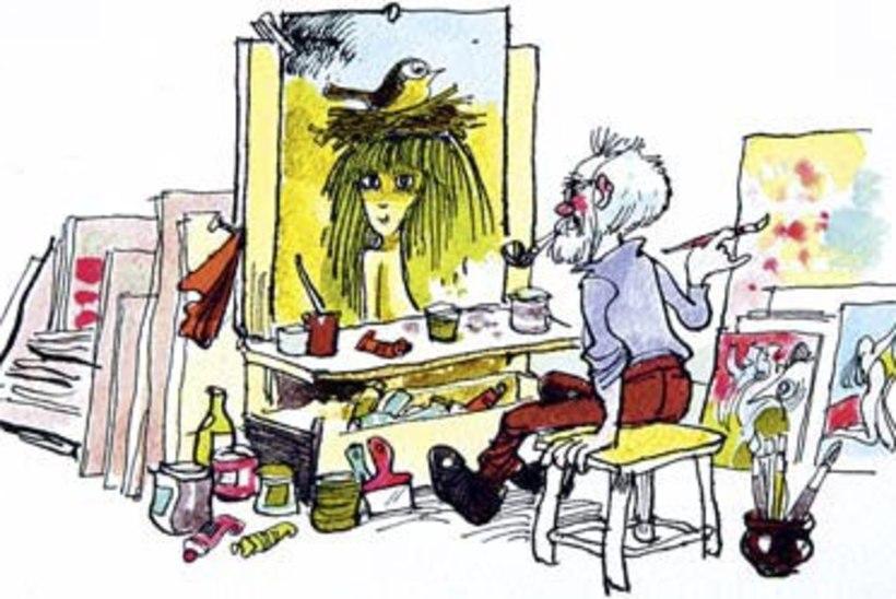 Edgar Valter joonistas kogu aeg ning kõikjale – vajadusel ka snaipripüssile ja auto poritiivale