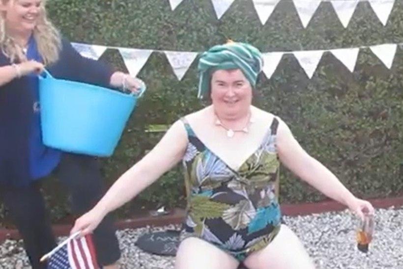 """VIDEO: Susan Boyle võttis """"jäänõu väljakutse"""" vastu lillelises trikoos!"""