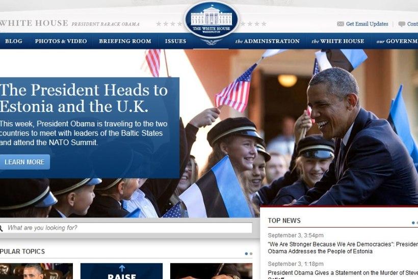 PILTUUDIS: Valge Maja kodulehel ilutseb pilt Obamast ja Eesti koolilastest
