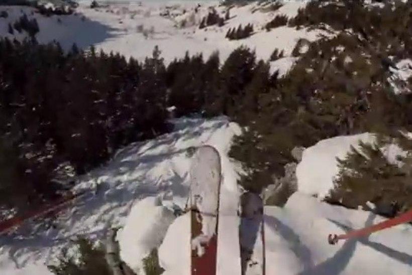 VIDEO: ekstreemsuusataja pöörastest laskumisest on saanud tõeline Youtube'i hitt