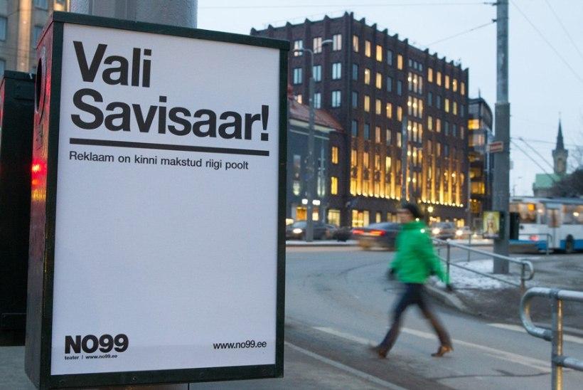 """Tallinna TV: politsei nõuab NO99 """"Savisaare"""" plakatite kui välireklaami eemaldamist"""