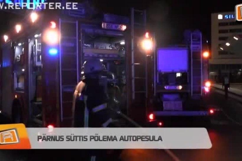 """REPORTERI"" VIDEO: Pärnus süttis põlema autopesula"