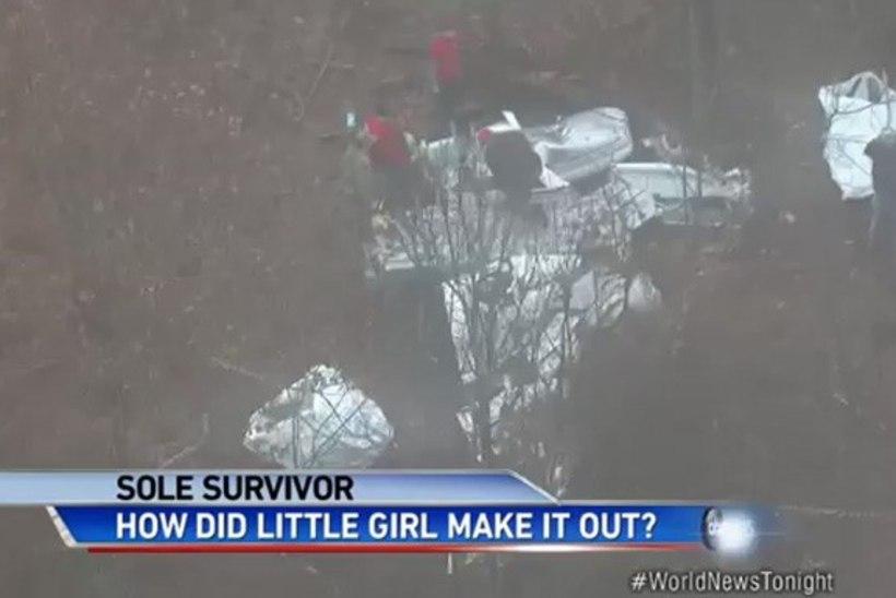 Murtud käega läbi külma ja pimeda metsa: väike tüdruk oli ainus, kes lennuõnnetuses ellu jäi