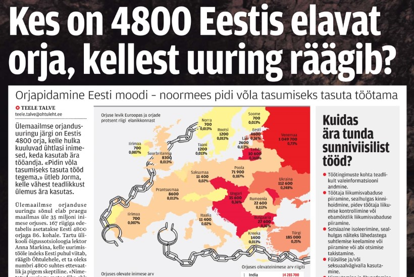 Sotsiaalministeeriumi töötaja: et tuhanded eestlased elavad orjuses, ei ole lihtsalt võimalik!