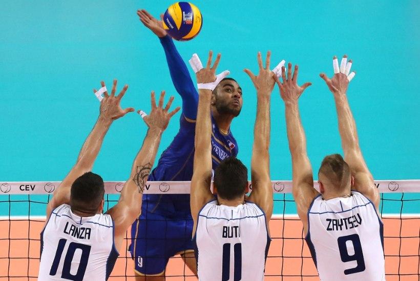 Võrkpalli EMil jõudsid veerandfinaali Prantsusmaa, Venemaa, Poola ja Bulgaaria