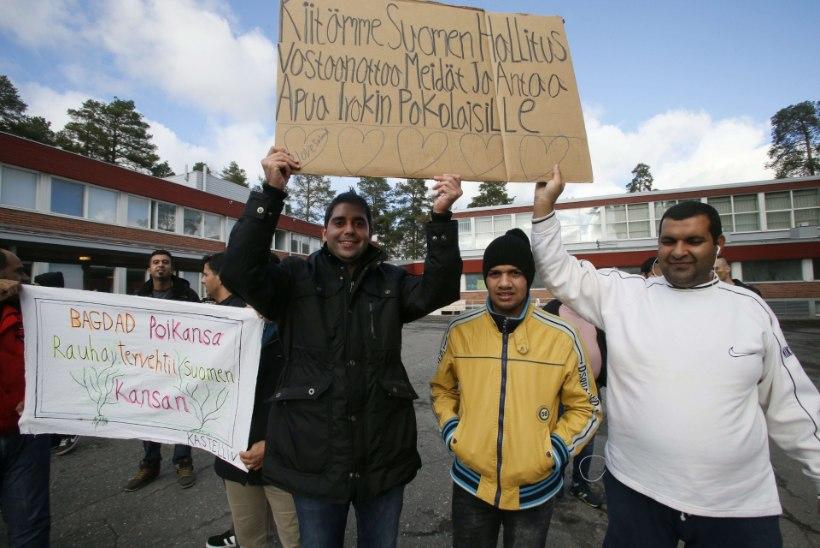 Süüria varjupaigataotlejad korraldasid Oulus Venemaa-vastase meeleavalduse