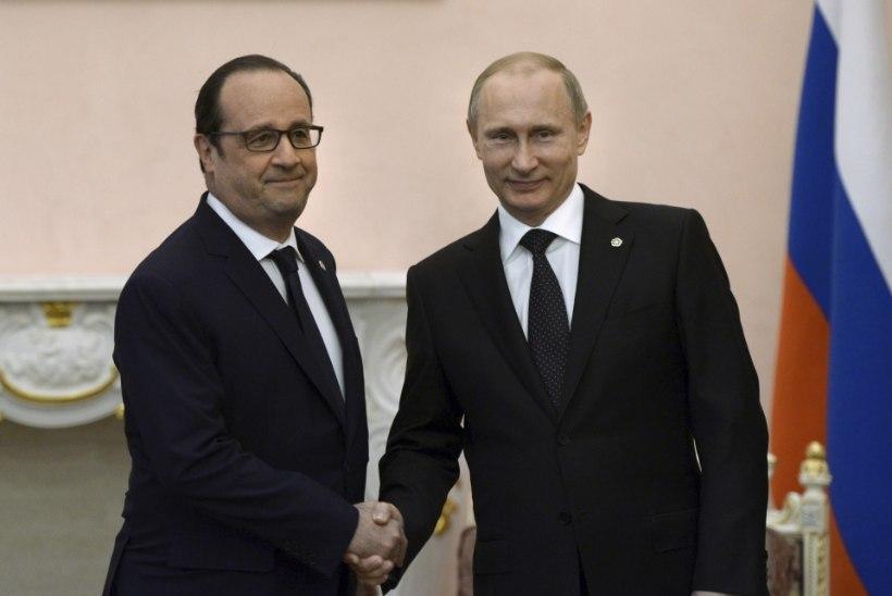 Putin ja Hollande kohtuvad täna Pariisis: Prantsusmaa kardab Süürias korralagedust
