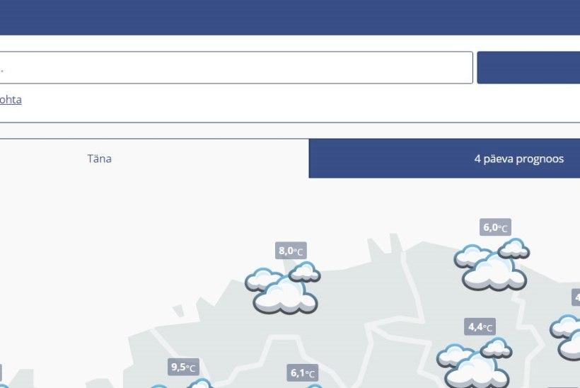 Ilmahuvilised! Ilmateenistus avas mobiilse veebilehe