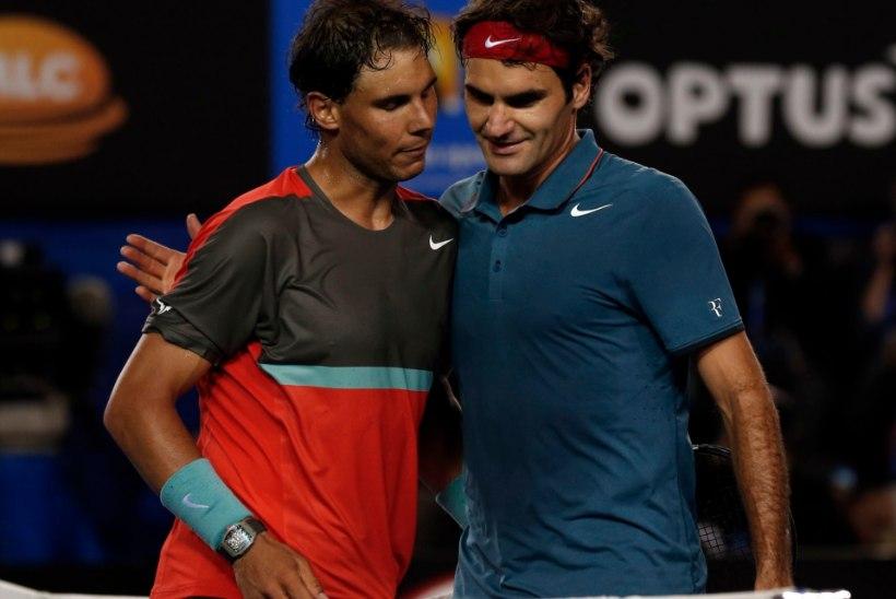 Tenniselegend Federer: olen tänu Rafael Nadalile teistsugune mängija