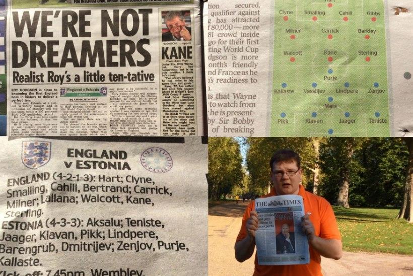 ÕHTULEHE VIDEO | Milline Inglismaa ajaleht paneb Eesti koosseisuga puusse, milline pihta?