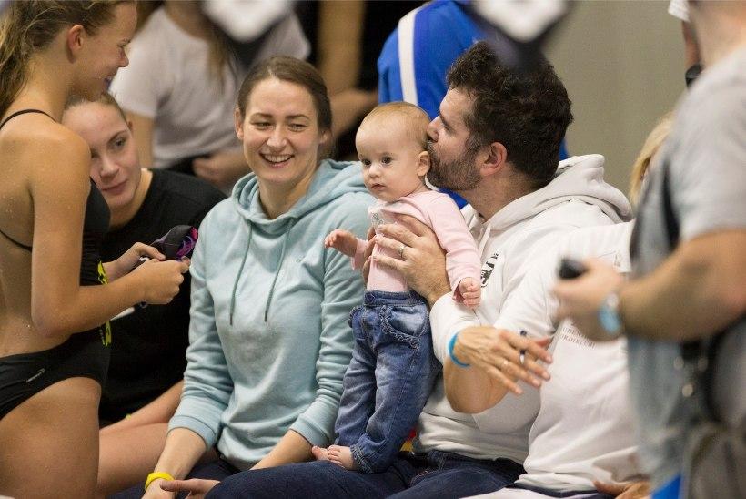 FOTOUUDIS   Eesti edukaim naisujuja nautis võistlusi pisitütre seltsis