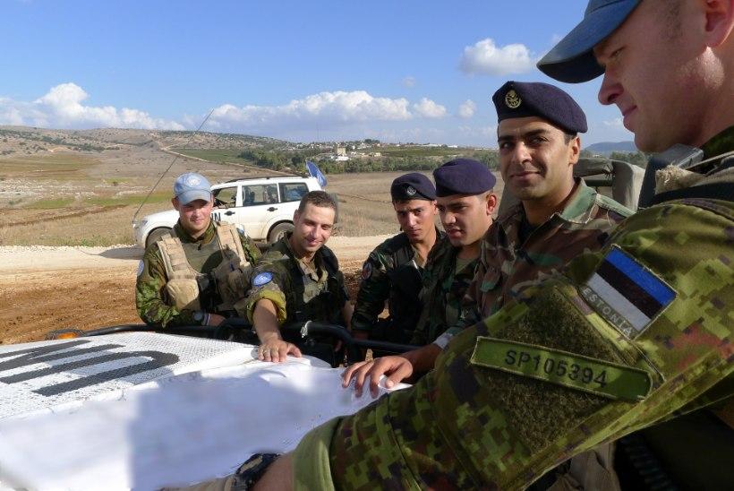 Eesti kaitseväelased patrullisid koos Liibanoni armeega
