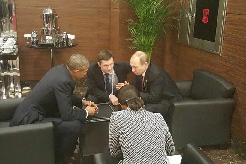 Obama ja Putini lühikeseks jäänud vestlus