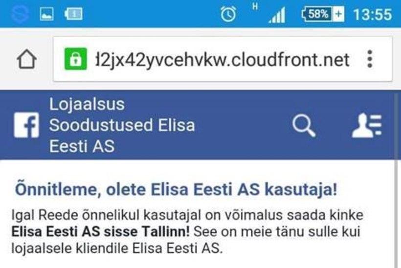 Elisa hoiatab: ära jaga oma kontakte sotsiaalmeedias levivasse petuankeeti