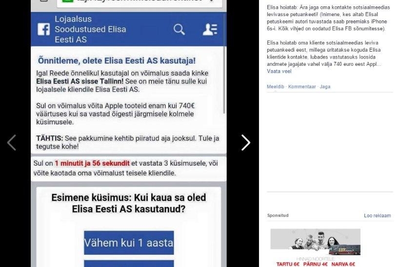 Elisa hoiatab: ärge vastake petuankeedile!