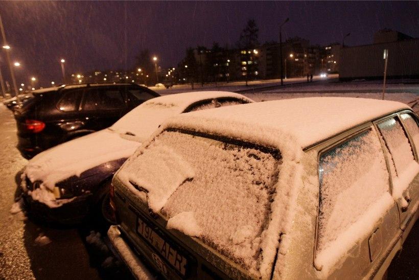 ETTEVAATUST: lume- ja lörtsisadu muutsid teed libedaks