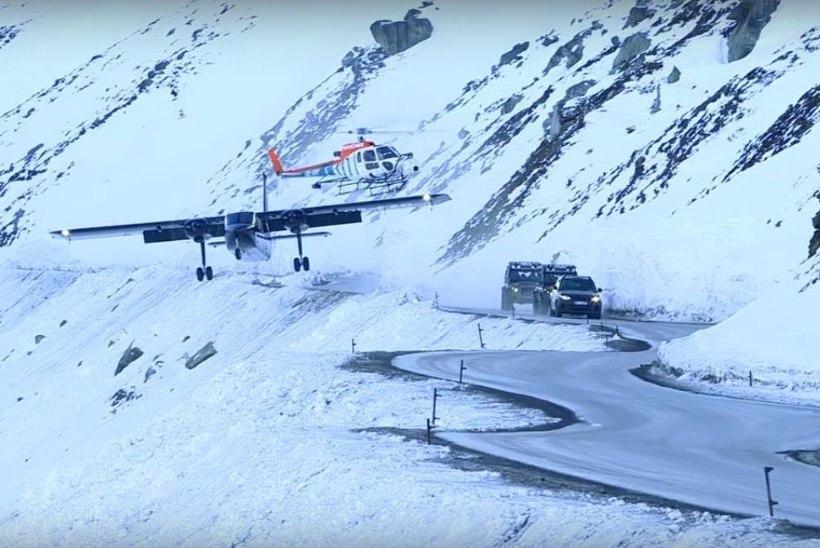 VAHI VÄRKI! Uues Bondi filmis kasutatatud lennukist tegi Kihnu Virve langevarjuhüpet
