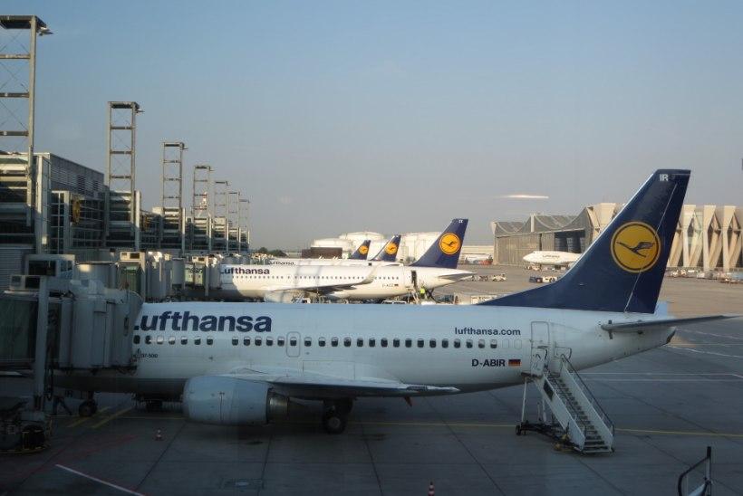 Saksa lennukompanii Lufthansa peab streigi tõttu ära jätma sadu lende