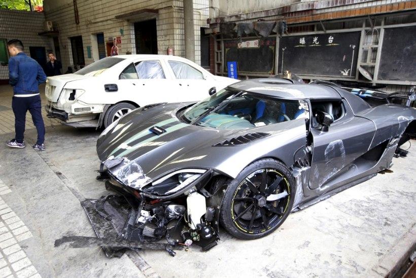 Ka ülikallid autod satuvad õnnetustesse