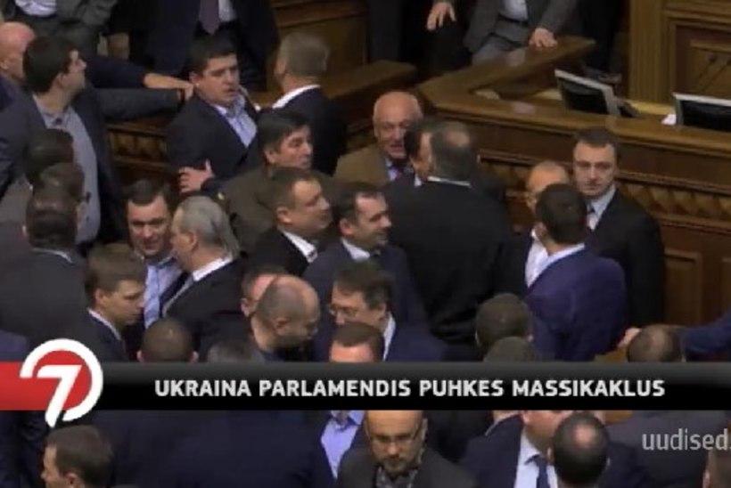 TV3 VIDEO | Ukraina parlamendis puhkes taaskord massikaklus