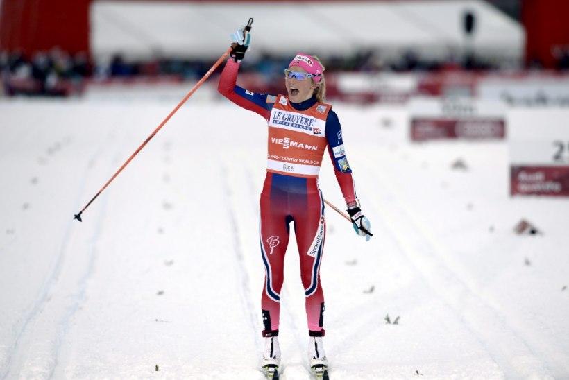 USKUMATU NAINE! Therese Johaug kordas muretu võiduga Marit Björgeni rekordit
