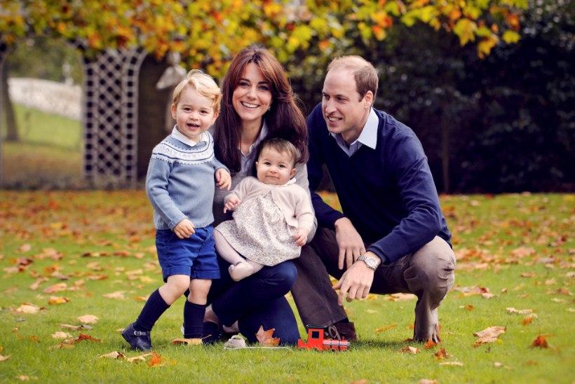 Prints avaldas jõuluks perefoto