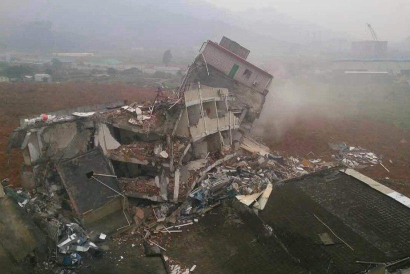 Maalihe ja gaasiplahvatus Hiinas