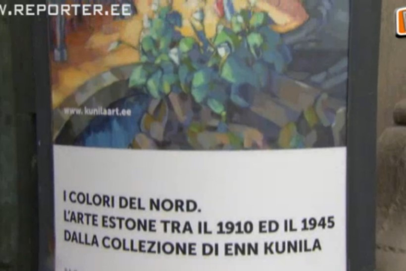 """""""REPORTERI"""" VIDEO: Rooma kunstihuvilistel on võimalus näha Eesti tippkunstnike loomingut"""