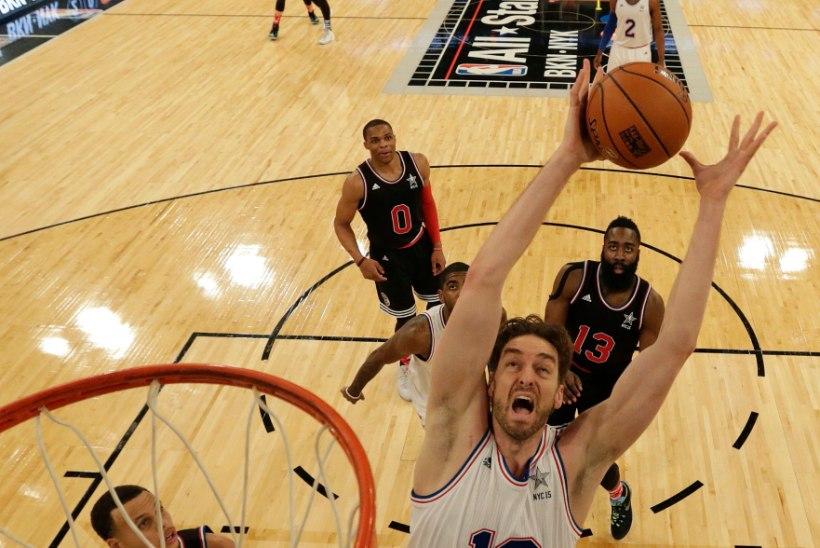 VIDEOŠÕU: Korvpall on imeline - NBA tähtede mängu parimad palad!