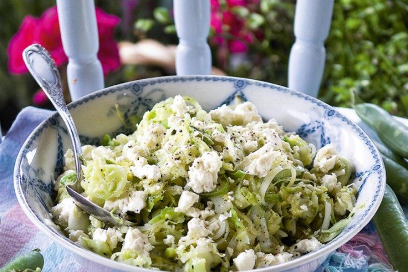 Värske kapsa salat fetajuustuga